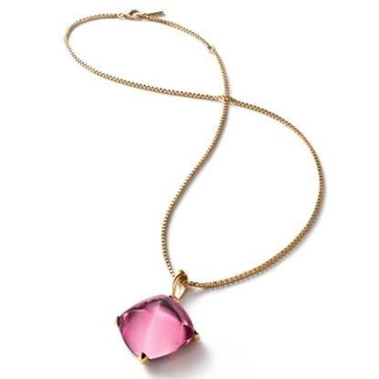 Picture of Baccarat Medicis Large Necklace - Pink Mirror/Vermeil