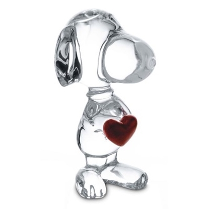 Picture of Baccarat Snoopy Heart Cartoon Figurine