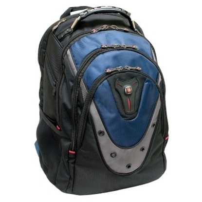 Picture of Wenger Ibex 17'' Computer Backpack - Black/Blue