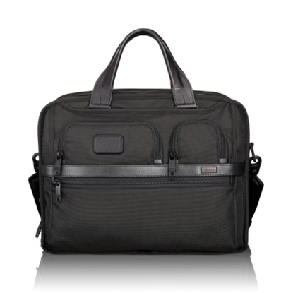 Picture of Tumi Alpha 2 T-Pass Expandable Laptop Brief - Black