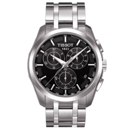 Picture of Tissot Couturier Quartz Chrono Watch with Black Dial
