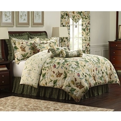 Picture of Royal Heritage Garden Images 4-Piece Comforter Set - King