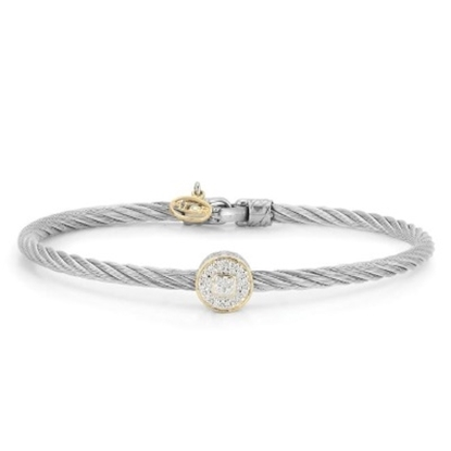 Picture of ALOR Classique Stainless Steel Bangle with Round Diamond