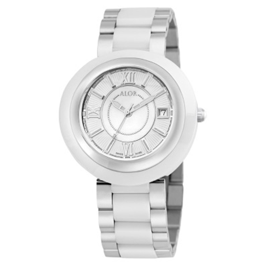 Picture of ALOR Cavo Stainless Steel & White Ceramic Watch