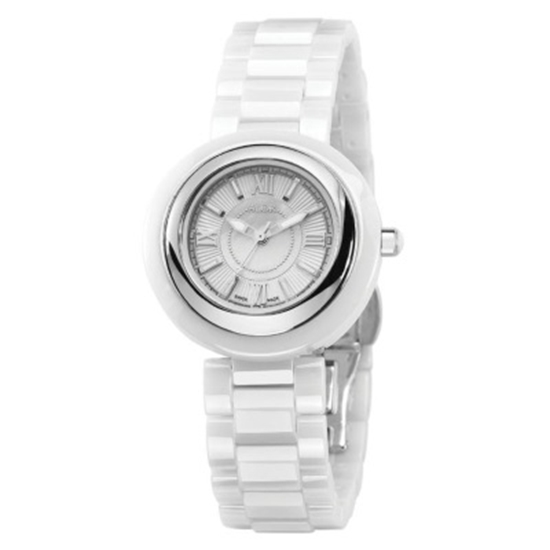 Picture of ALOR Cavo Ceramic Watch with White Strap and Dial