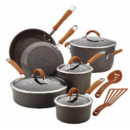 Picture of Rachael Ray Cucina H.A. 12-Piece Cookware Set -Pumpkin Orange
