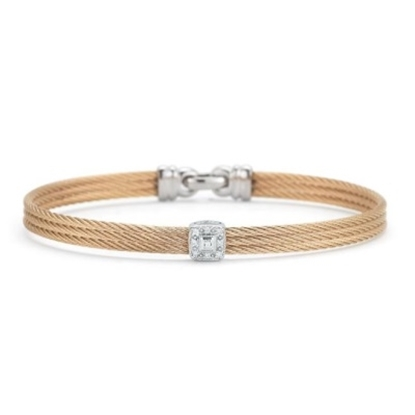 Picture of ALOR Classique White Gold/Rose Steel Diamond Bangle