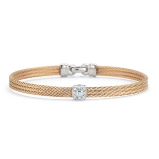 Picture of ALOR Classique White Gold/Rose Steel Diamond Bangle