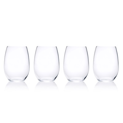 Picture of Mikasa Laura Stemless Wine Glasses - Set of 4