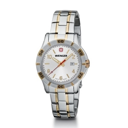 Picture of Wenger Platoon Small Two-Tone Watch with Silver Dial