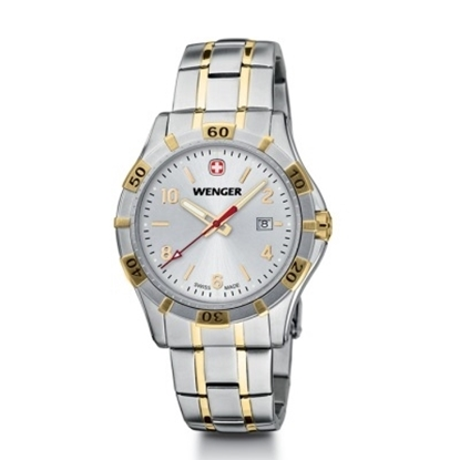 Picture of Wenger Platoon Large Two-Tone Watch with Silver Dial