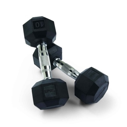 Picture of SPRI Deluxe 10-lb. Rubber Dumbbell Pair