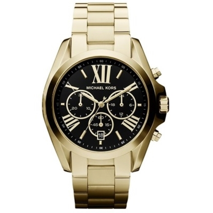 Picture of Michael Kors Bradshaw Gold-Tone Watch with Black Dial