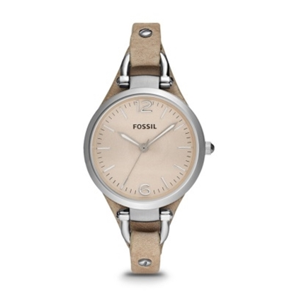 Picture of Fossil Ladies' Georgia Three-Hand Leather Watch - Sand
