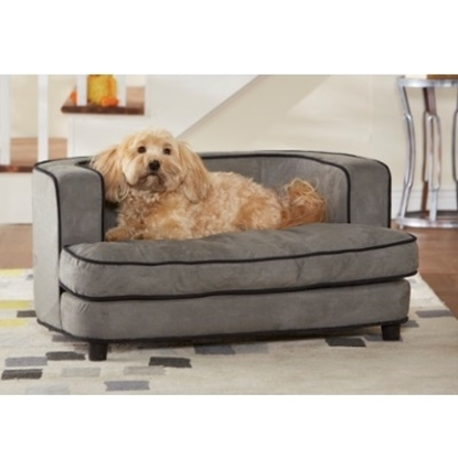 Picture of Enchanted Home Pet Ultra Plush Cliff Bed - Grey