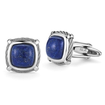 Picture of ALOR® Gentlemen's Blue Lapis Cuff Links