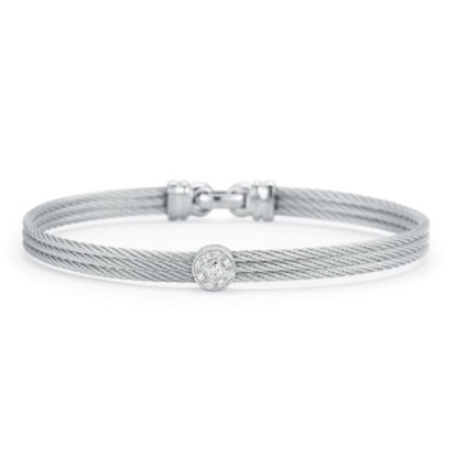 Picture of ALOR® Classique Bangle with White Gold and Diamonds