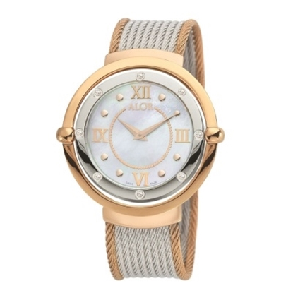 Picture of ALOR® Ladies' 1979 Watch with Rose & Grey Cable Straps