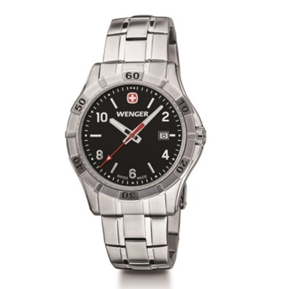 Picture of Wenger Platoon Stainless Steel Watch with Black Dial