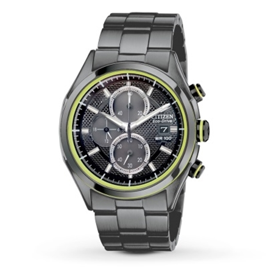 Picture of Citizen Eco-Drive HTM Men's Watch - Black/Bright Green