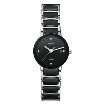 Picture of Rado Centrix Small Ladies' Watch with Diamonds & Black Dial