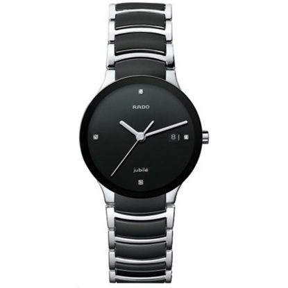 Picture of Rado Centrix Large Ladies' Watch with Diamonds & Black Dial