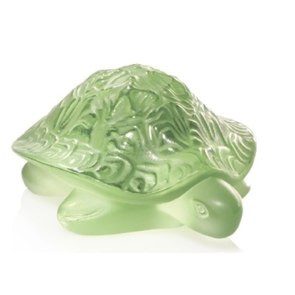 Picture of Lalique Turtle Sidonie Figurine - Light Green