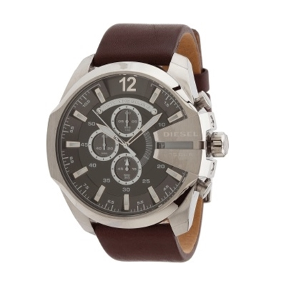 Picture of Diesel® Mega Chief Chronograph with Brown Leather Strap