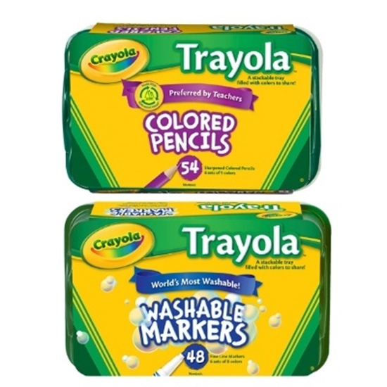 Picture of Crayola® Colored Pencil and Marker Trayola Packs
