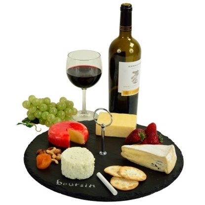 Picture of Picnic at Ascot Selva Round Slate Cheese Board & Tools