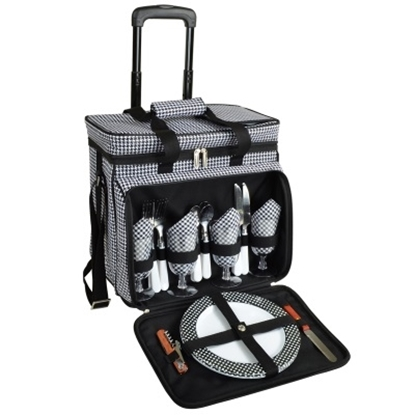 Picture of Picnic at Ascot Deluxe Picnic Cooler for Four - Houndstooth