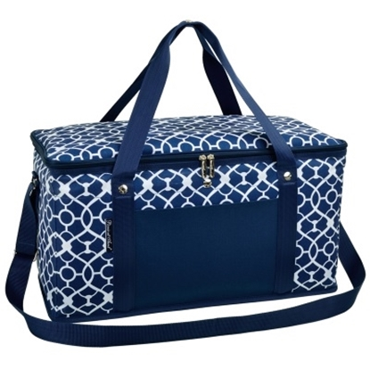 Picture of Picnic at Ascot Folding 72-Can Cooler - Trellis Blue