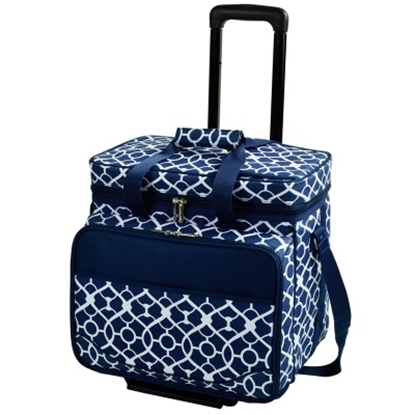 Picture of Picnic at Ascot Deluxe Picnic Cooler for Four - Trellis Blue