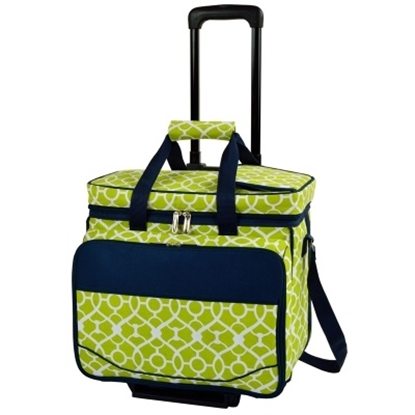 Picture of Picnic at Ascot Deluxe Picnic Cooler for Four -Trellis Green