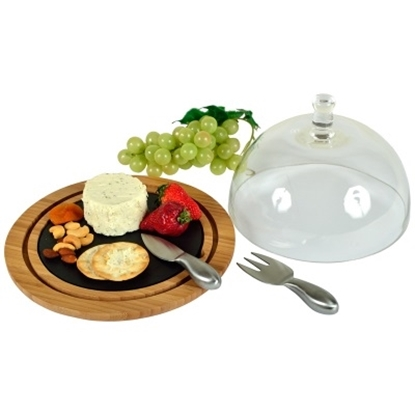 Picture of Picnic at Ascot Provence Bamboo & Slate Cheese Board