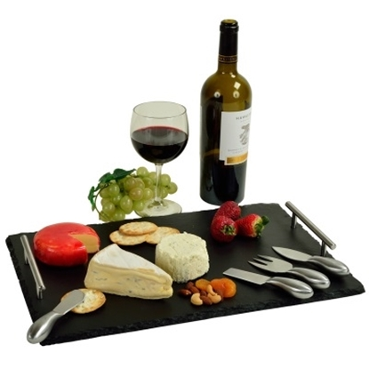 Picture of Picnic at Ascot Sardo Deluxe Slate Cheese Board & Tools