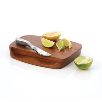 Picture of Nambe Gourmet Blend Bar Board with Knife