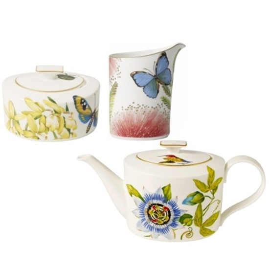 Picture of Villeroy & Boch Amazonia Teapot, Creamer & Covered Sugar