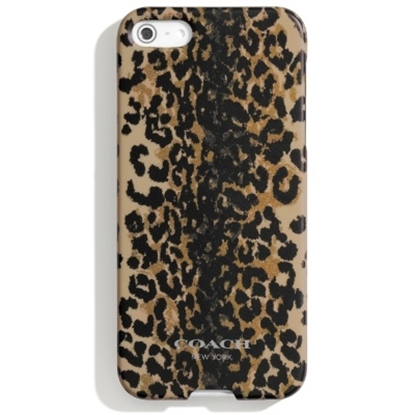 Picture of Coach Hard iPhone® 5 Case- Light Gold/Khaki