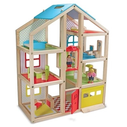 Picture of Melissa & Doug® Hi Rise Dollhouse and Furniture
