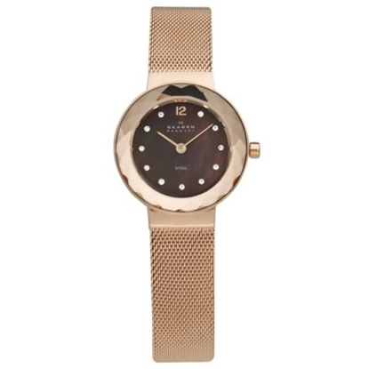 Picture of Skagen Ladies' Rose Gold-Tone Steel Mesh Watch