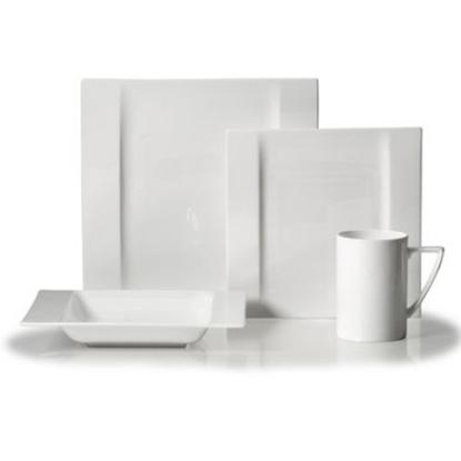 Picture of Mikasa Modern White 16-Piece Dinnerware Set