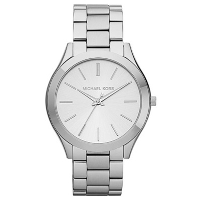 Picture of Michael Kors Ladies' Runway Slim Silver-Tone Bracelet Watch