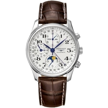Picture of Longines® Master Men's Watch with Brown Alligator Strap
