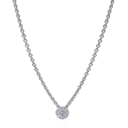 Picture of ALOR Flamme Blanche Round Diamond Necklace - 0.13 tcw.