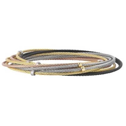 Picture of ALOR Modern Cable 10 Row Bangles