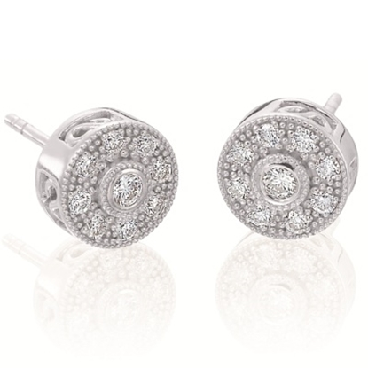 Picture of ALOR Flamme Blanche Earrings - 0.26 tcw.