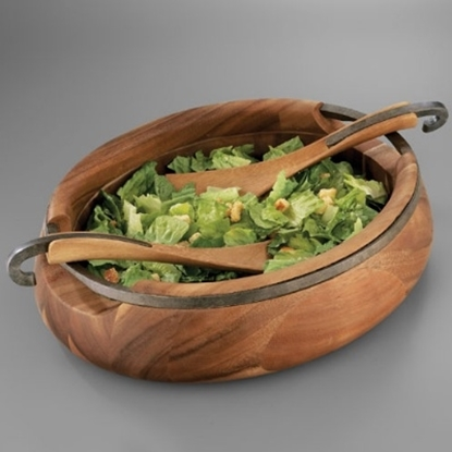 Picture of Nambe Anvil Salad Bowl with Servers