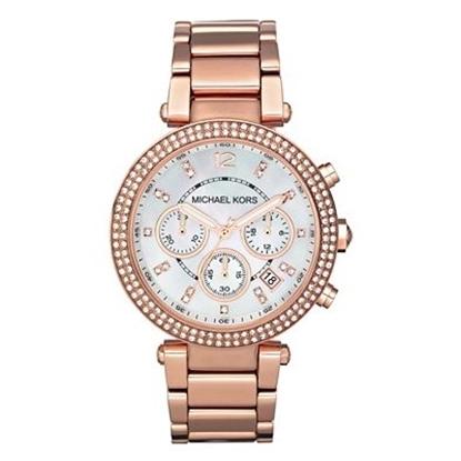 Picture of Michael Kors Ladies' Parker Rose Glitz Chronograph Watch