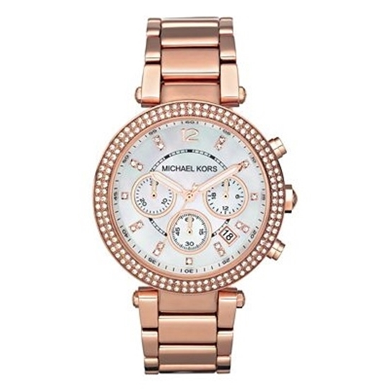 Picture of Michael Kors Ladies' Parker Rose Glitz Chronograph Watch